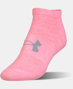 Girls' UA Big Logo No Show Socks 6-Pack  1 Color $19