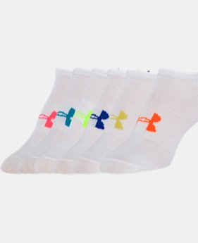 Best Seller Girls' UA Big Logo No Show Socks 6-Pack   $18.99