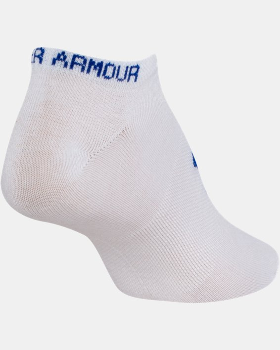 Girls' UA Big Logo No Show Socks 6-Pack, White, pdpMainDesktop image number 11