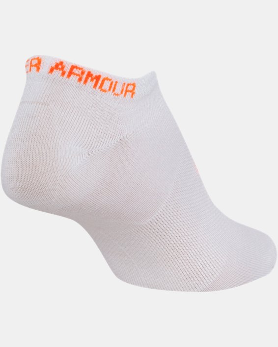 Girls' UA Big Logo No Show Socks 6-Pack, White, pdpMainDesktop image number 13