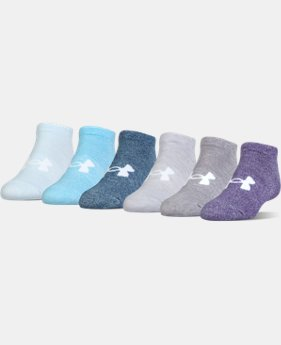PRO PICK Girls' UA Big Logo No Show Socks 6-Pack  5 Colors $19