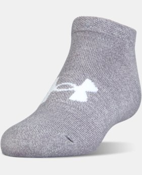 Girls' UA Big Logo No Show Socks 6-Pack  1 Color $24.99