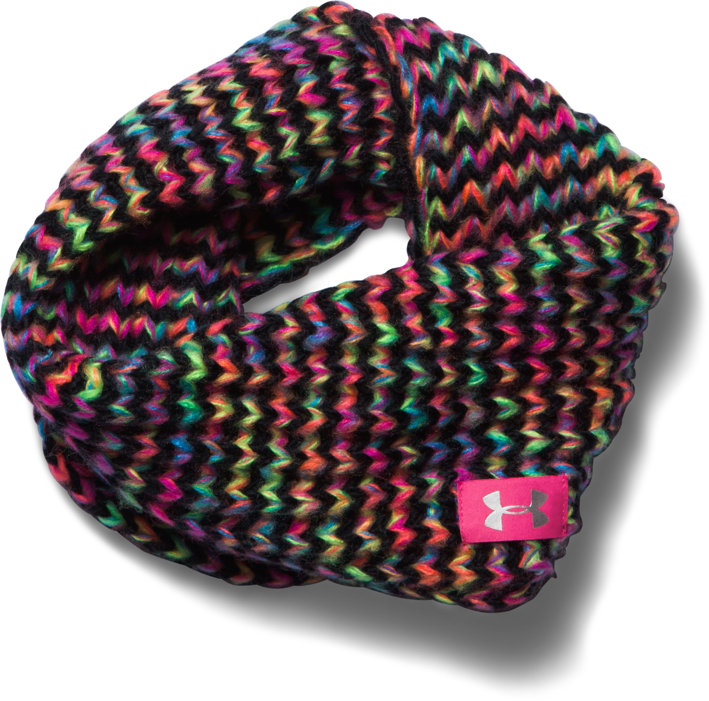 Girls' UA Infinity Scarf, Black , zoomed image