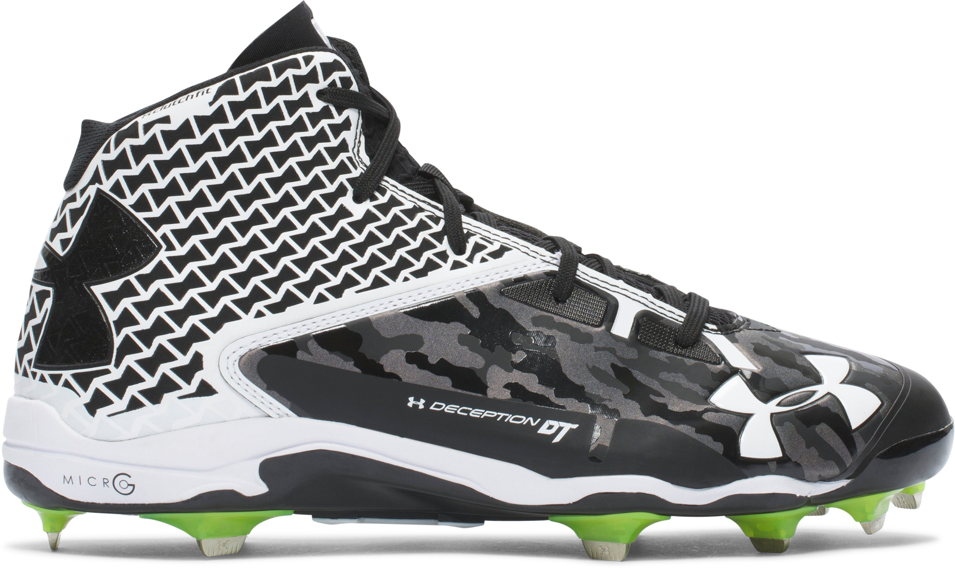 Men's UA Deception Mid DiamondTips Baseball Cleats — All-Star Game Edition, Black , zoomed image
