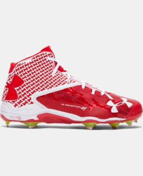 Men's UA Deception Mid DiamondTips Baseball Cleats EXTRA 25% OFF ALREADY INCLUDED 1 Color $62.24