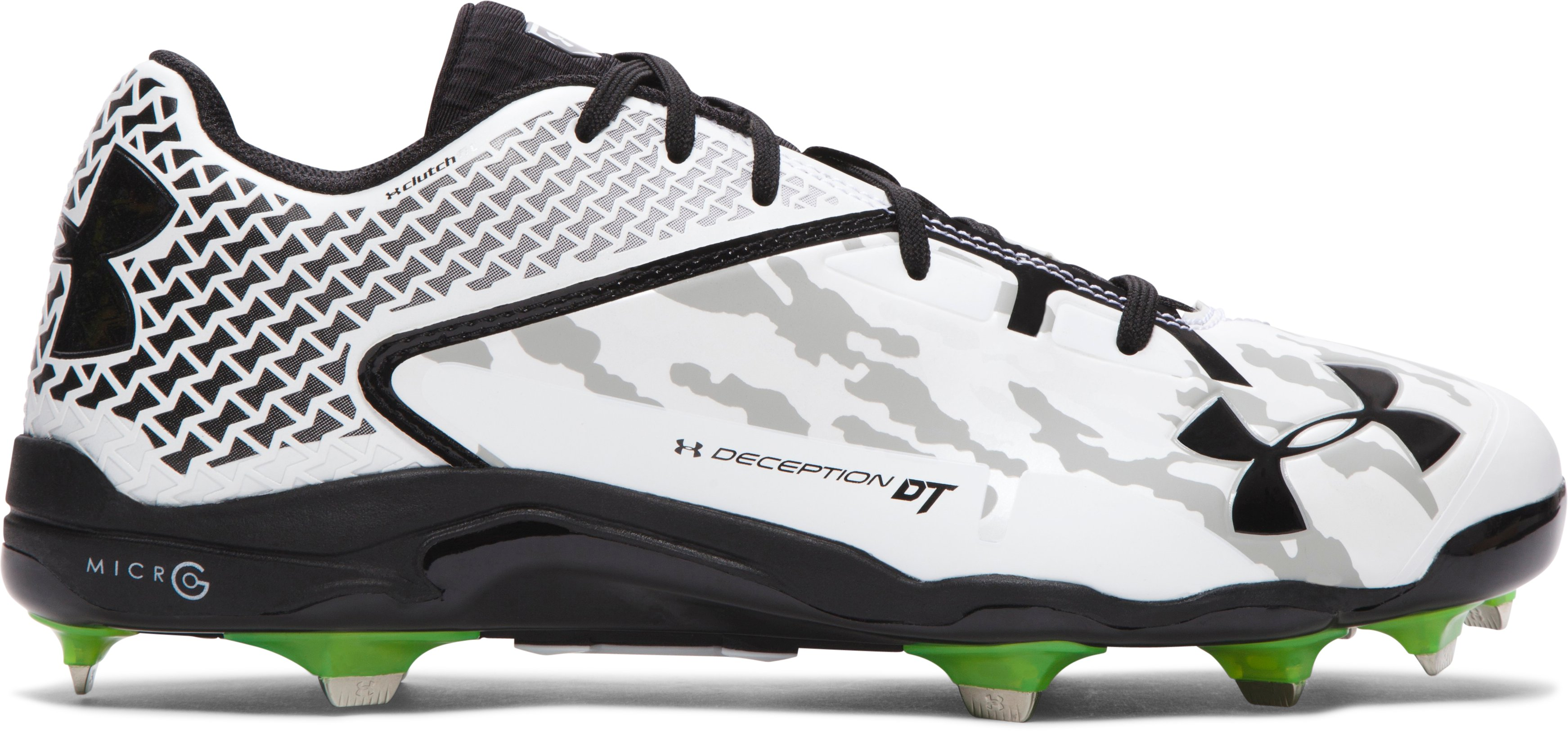 Men's UA Deception Low DiamondTips Baseball Cleats — All-Star Game Edition, White