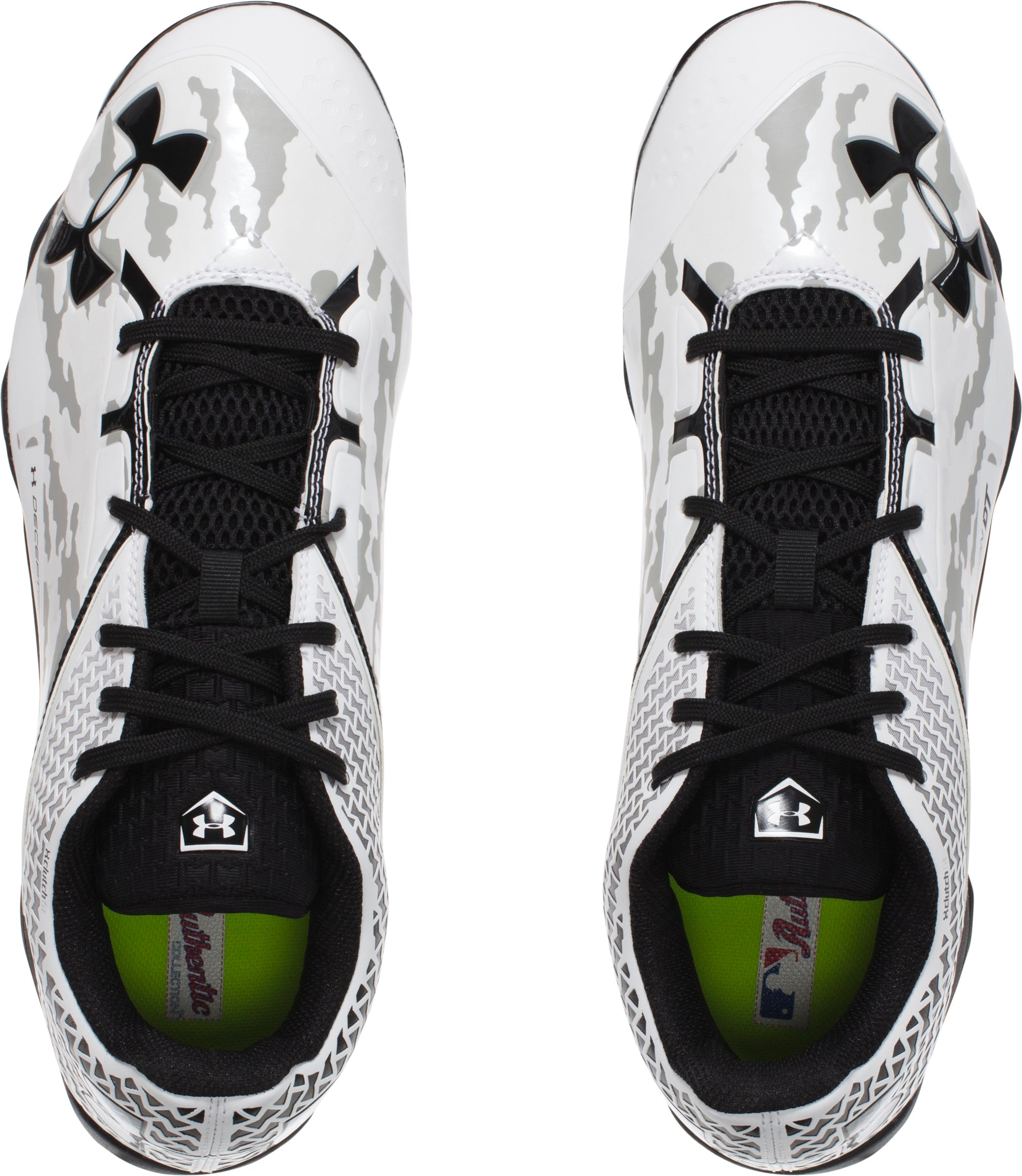 Men's UA Deception Low DiamondTips Baseball Cleats — All-Star Game Edition, White,
