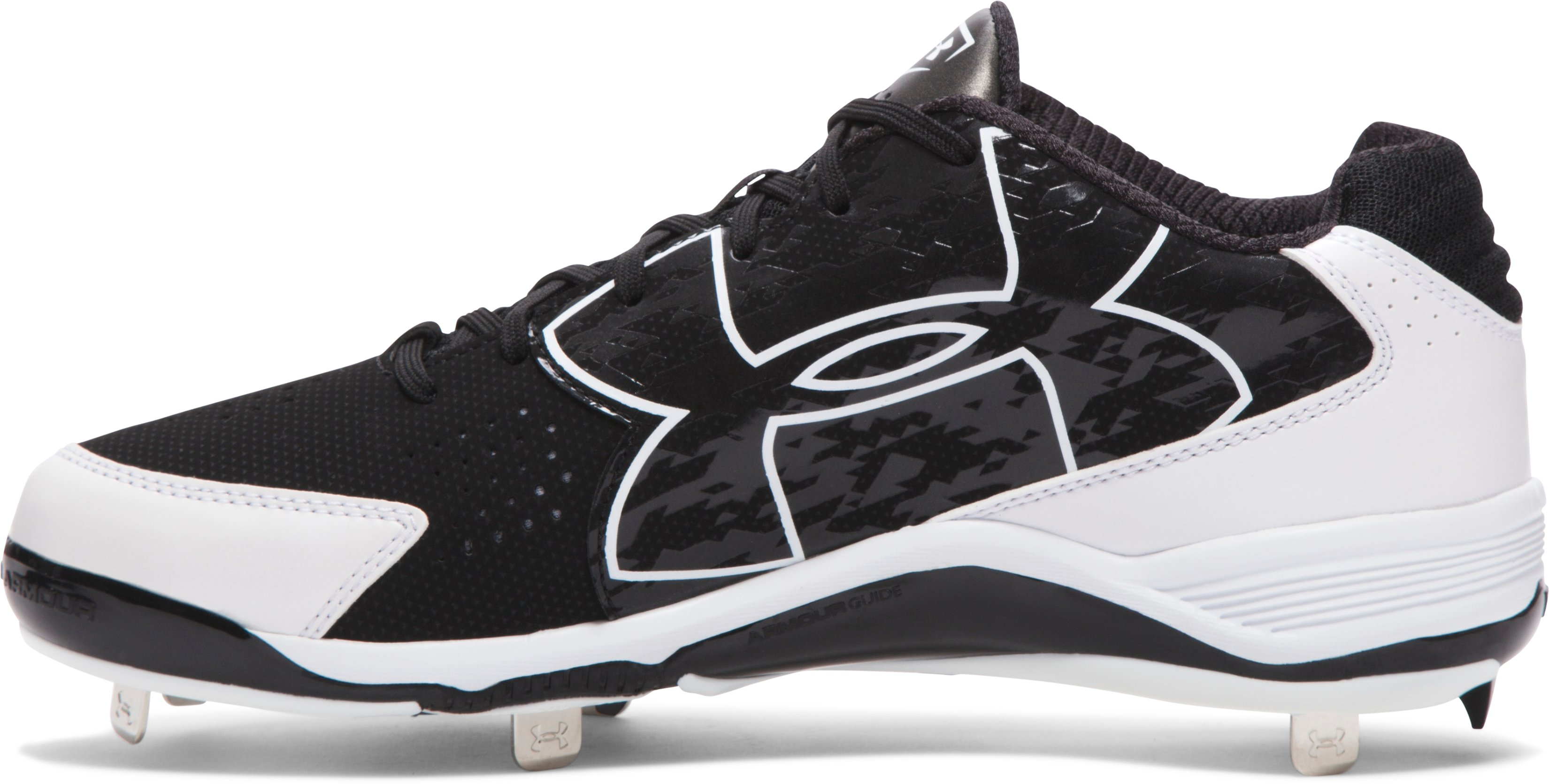 Men's UA Ignite Low Baseball Cleats, Black , undefined