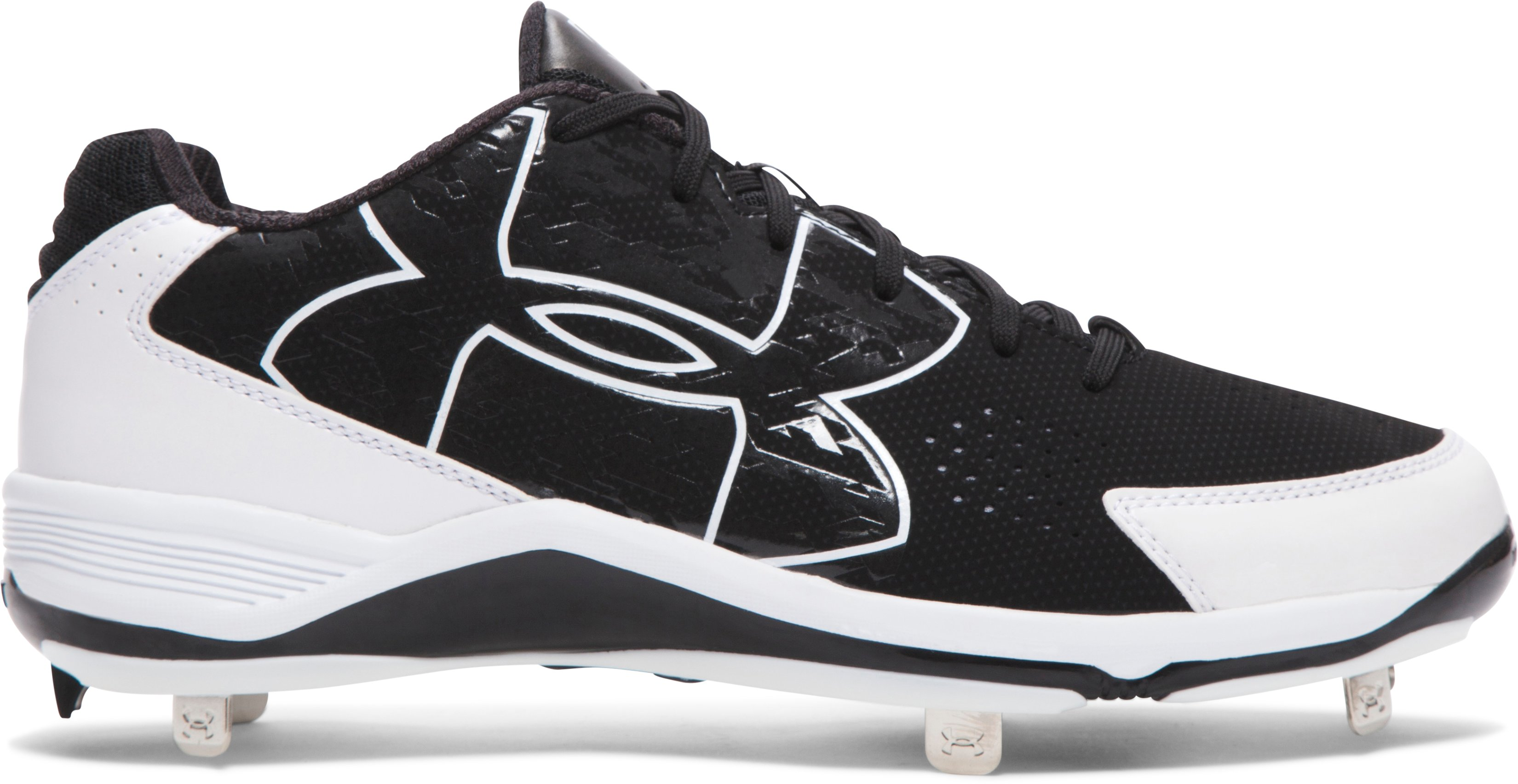 Men's UA Ignite Low Baseball Cleats, Black
