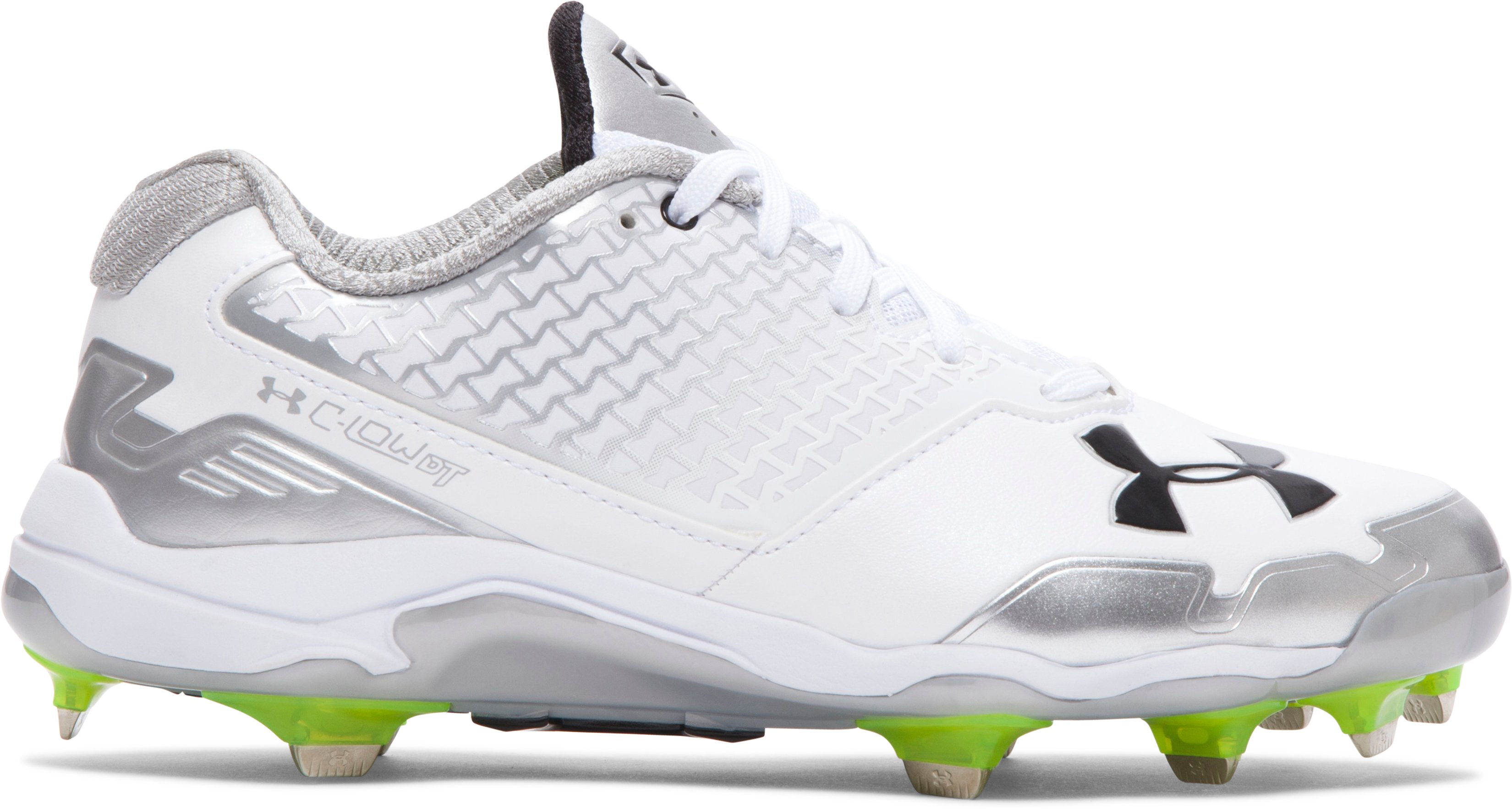 Women's UA C-Low DiamondTips Softball Cleats, White