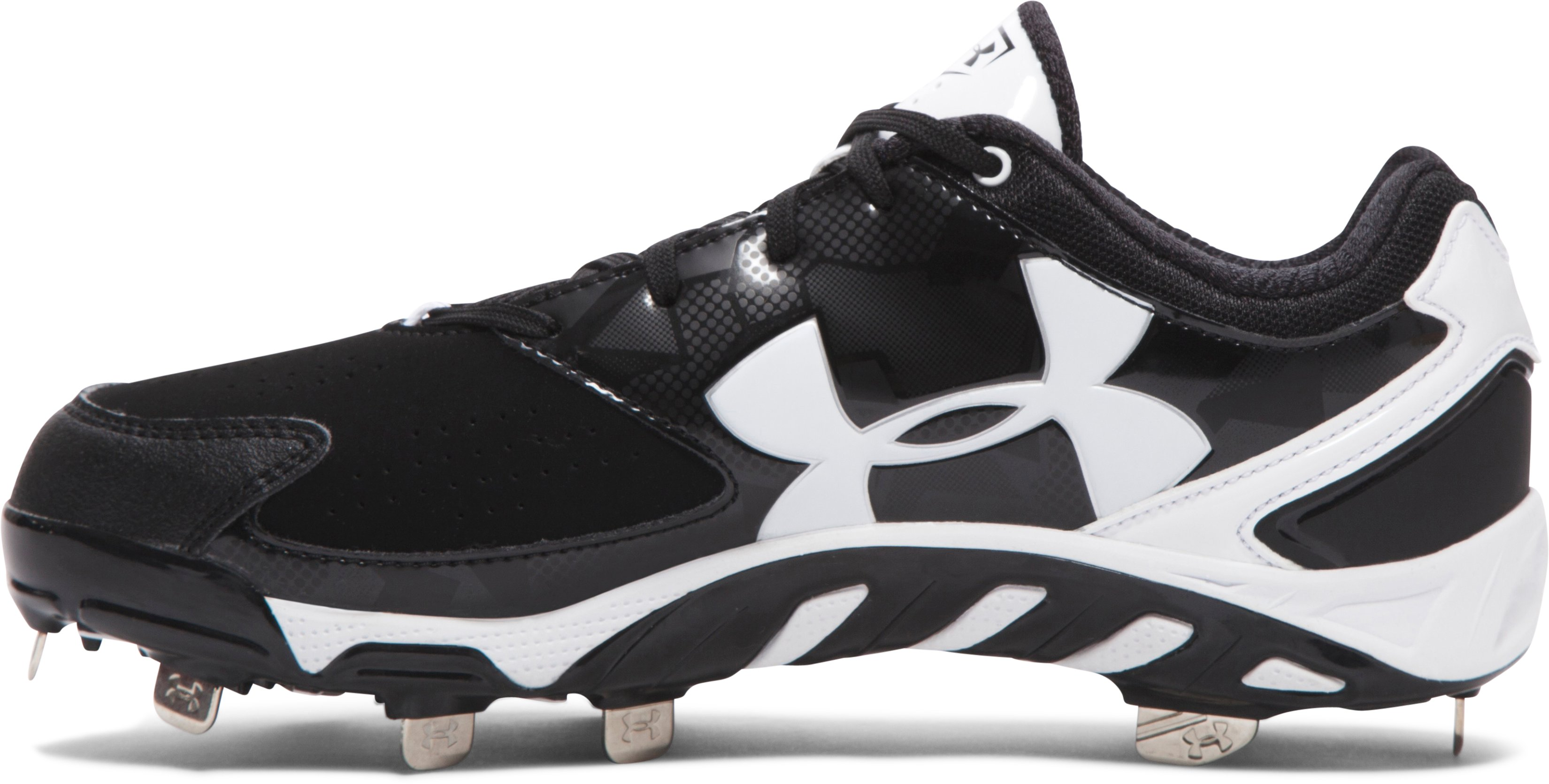 Women's UA Spine™ Glyde Softball Cleats, Black ,