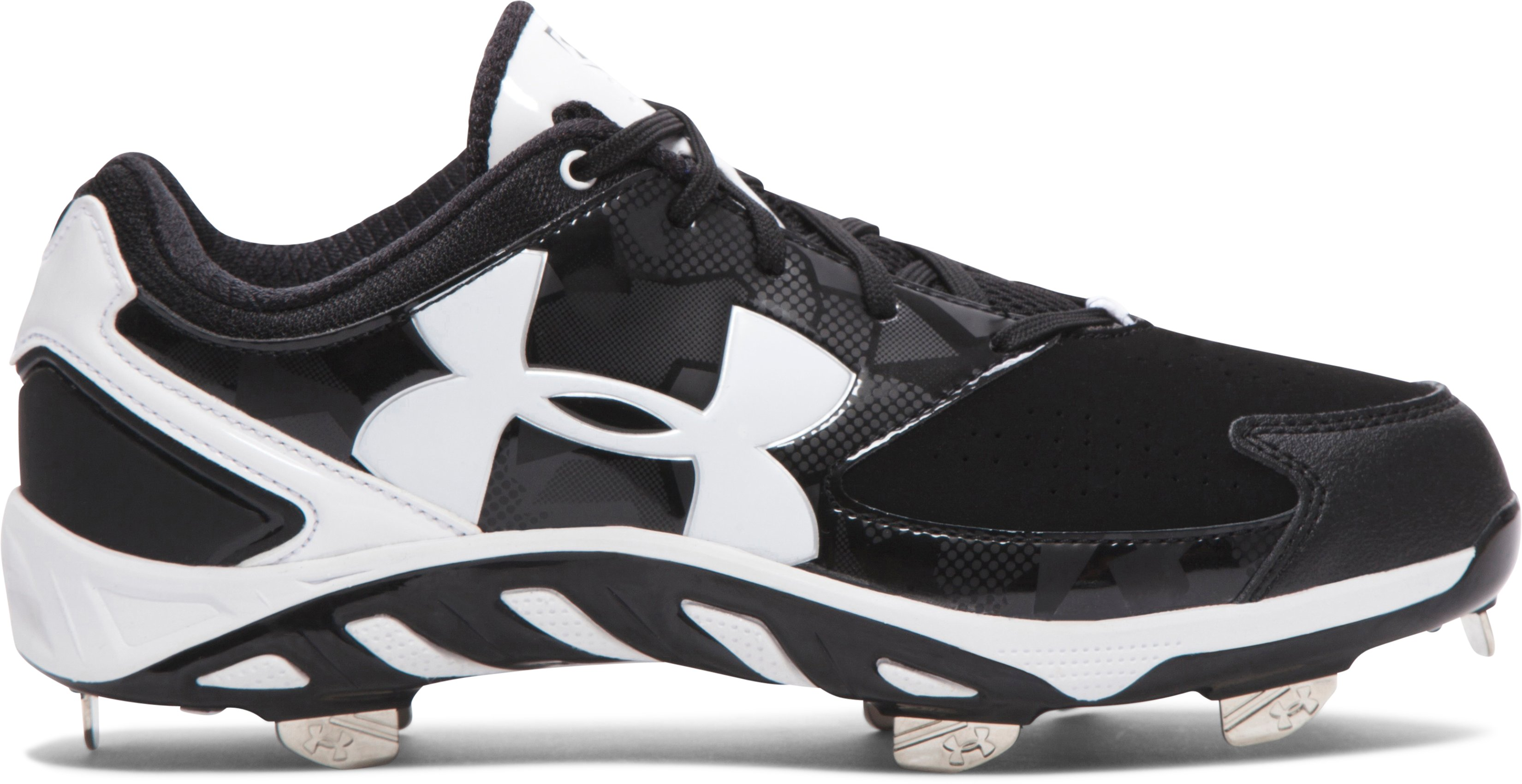 Women's UA Spine™ Glyde Softball Cleats, Black , zoomed image