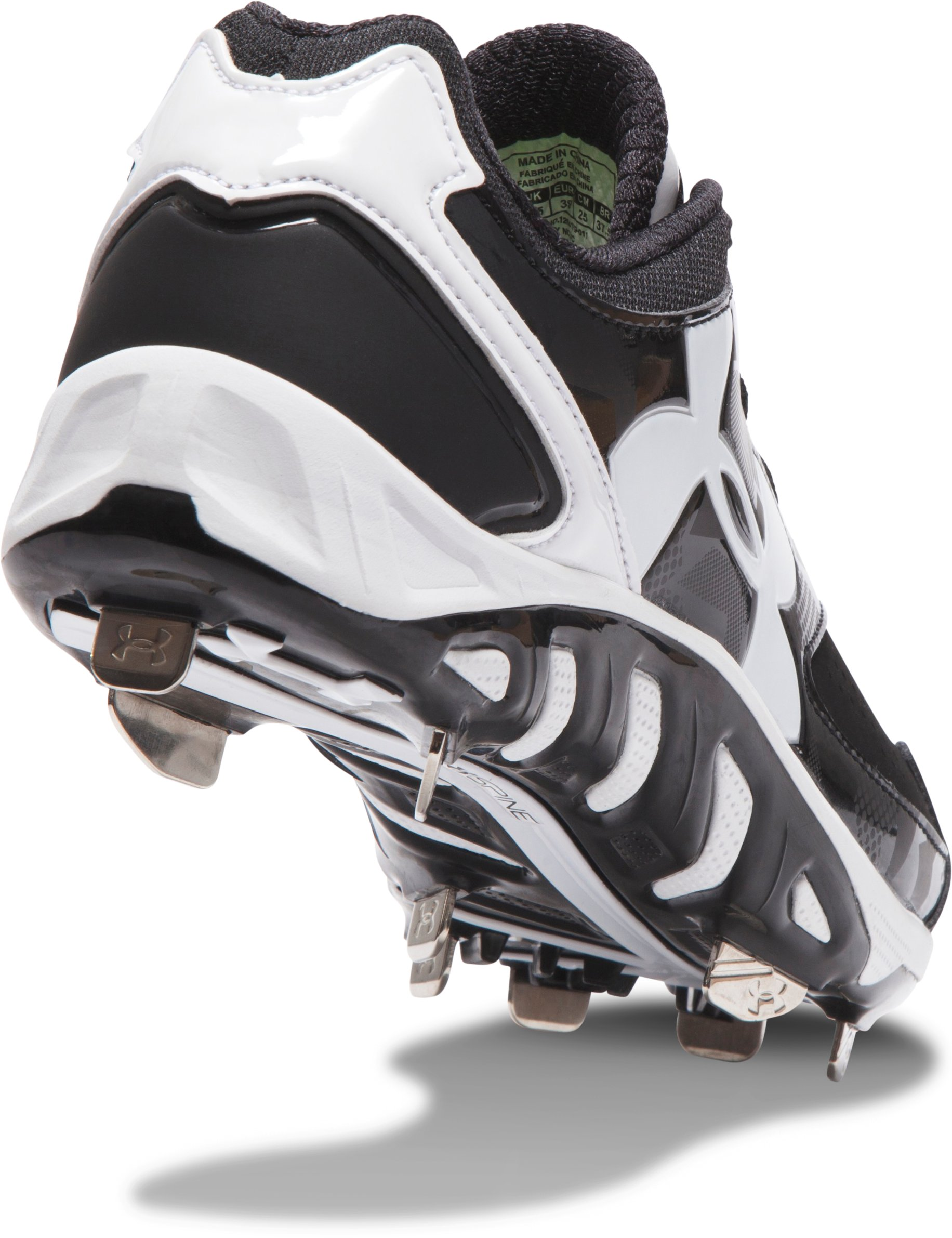 Women's UA Spine™ Glyde Softball Cleats, Black , undefined