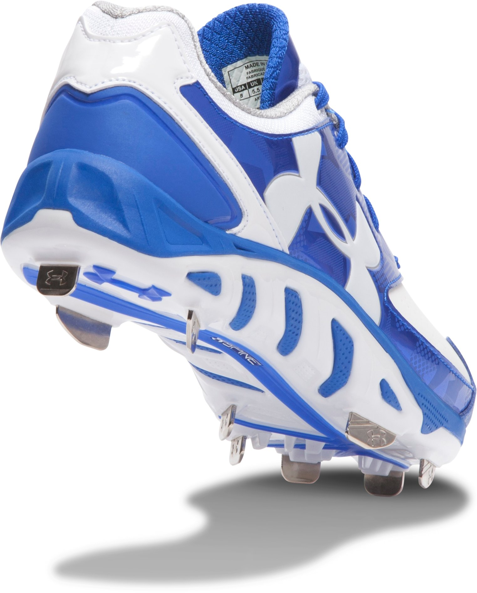 Women's UA Spine™ Glyde Softball Cleats, TEAM ROYAL, undefined
