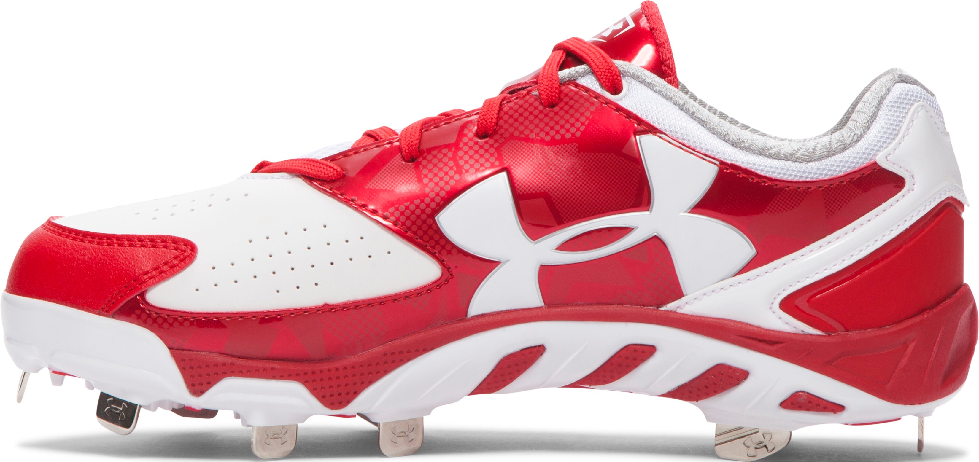 Women's UA Spine™ Glyde Softball Cleats, Red,