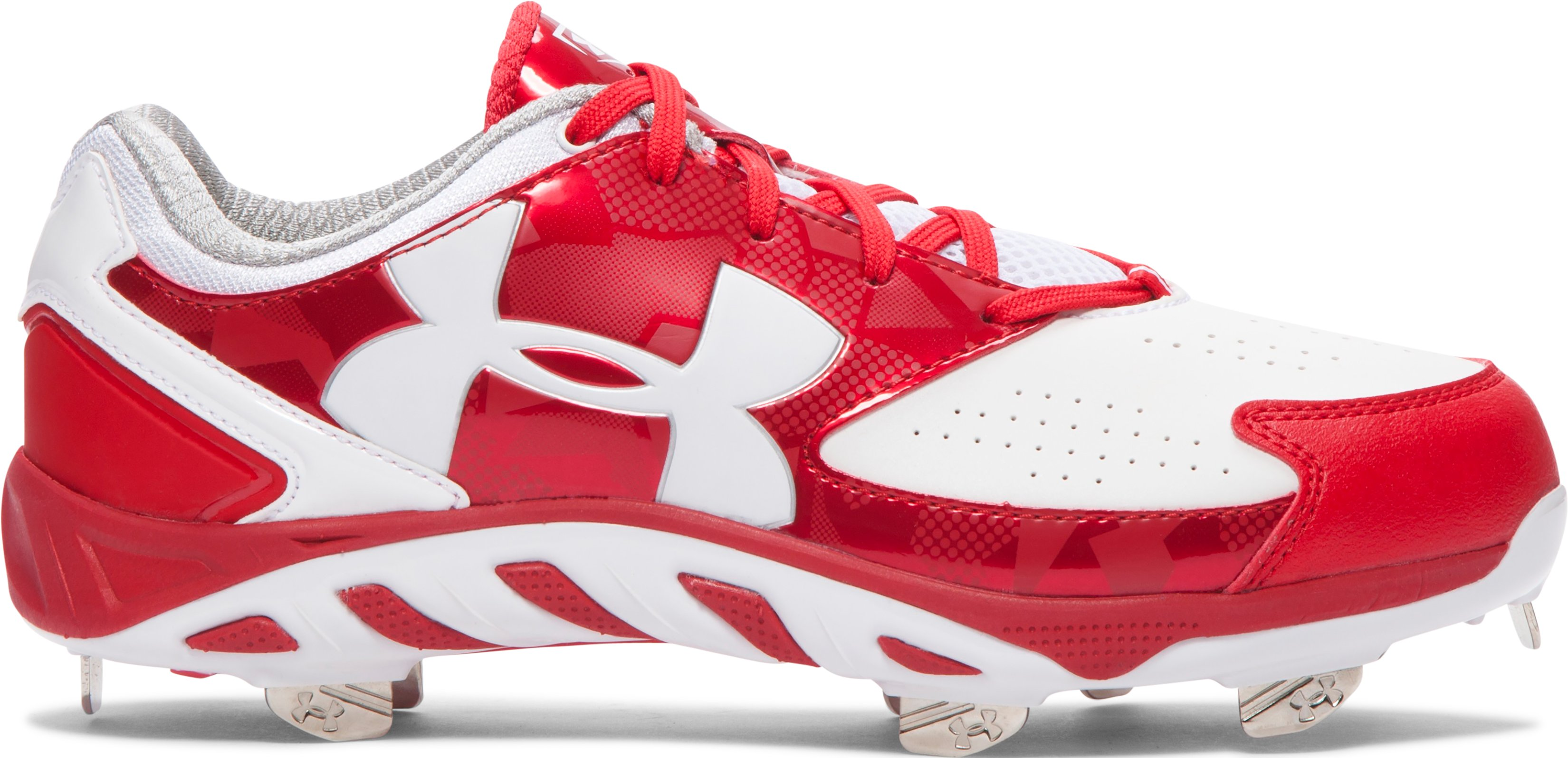 Women's UA Spine™ Glyde Softball Cleats, Red
