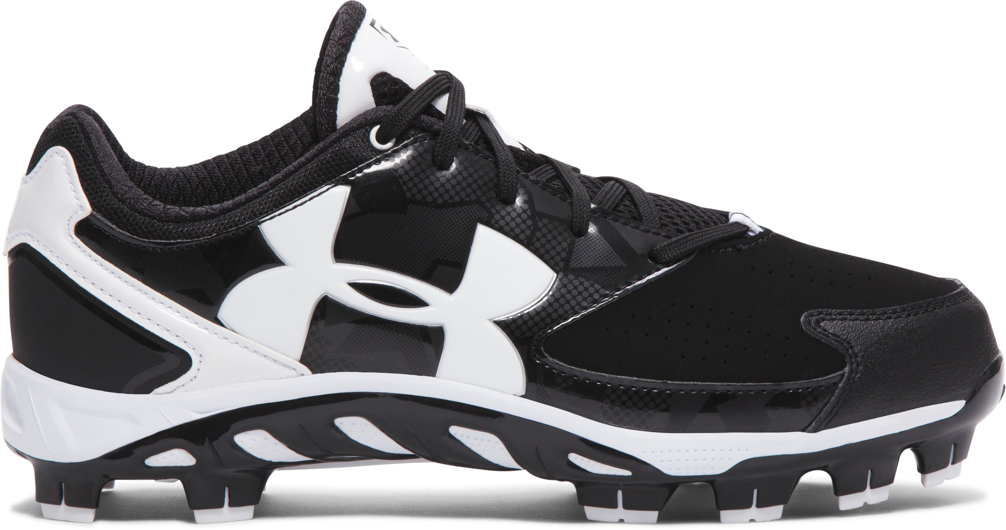 Women's UA Spine™ Glyde TPU Softball Cleats, Black , zoomed image