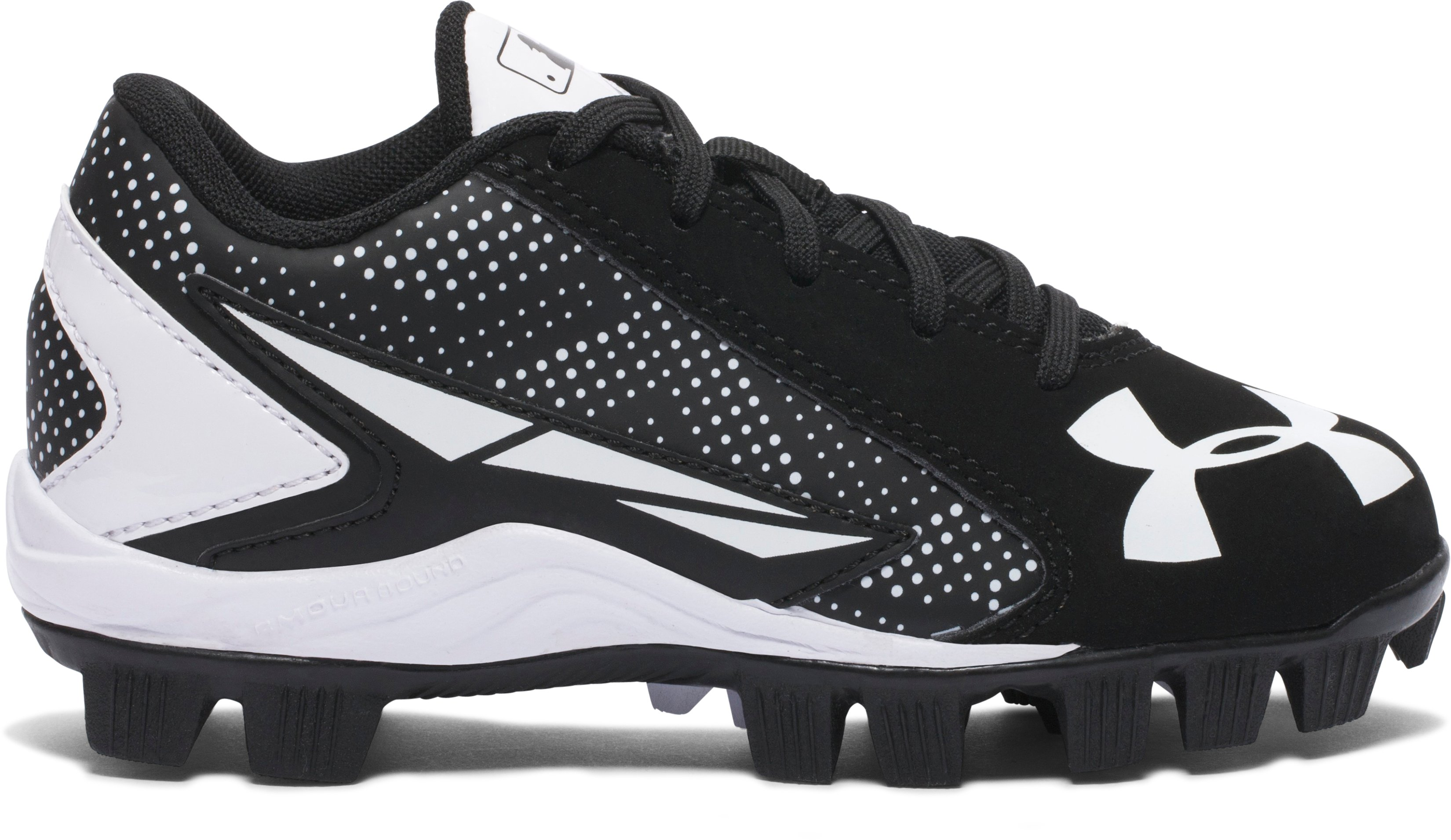 Kids' UA Leadoff Low RM Jr. Baseball Cleats, Black , undefined