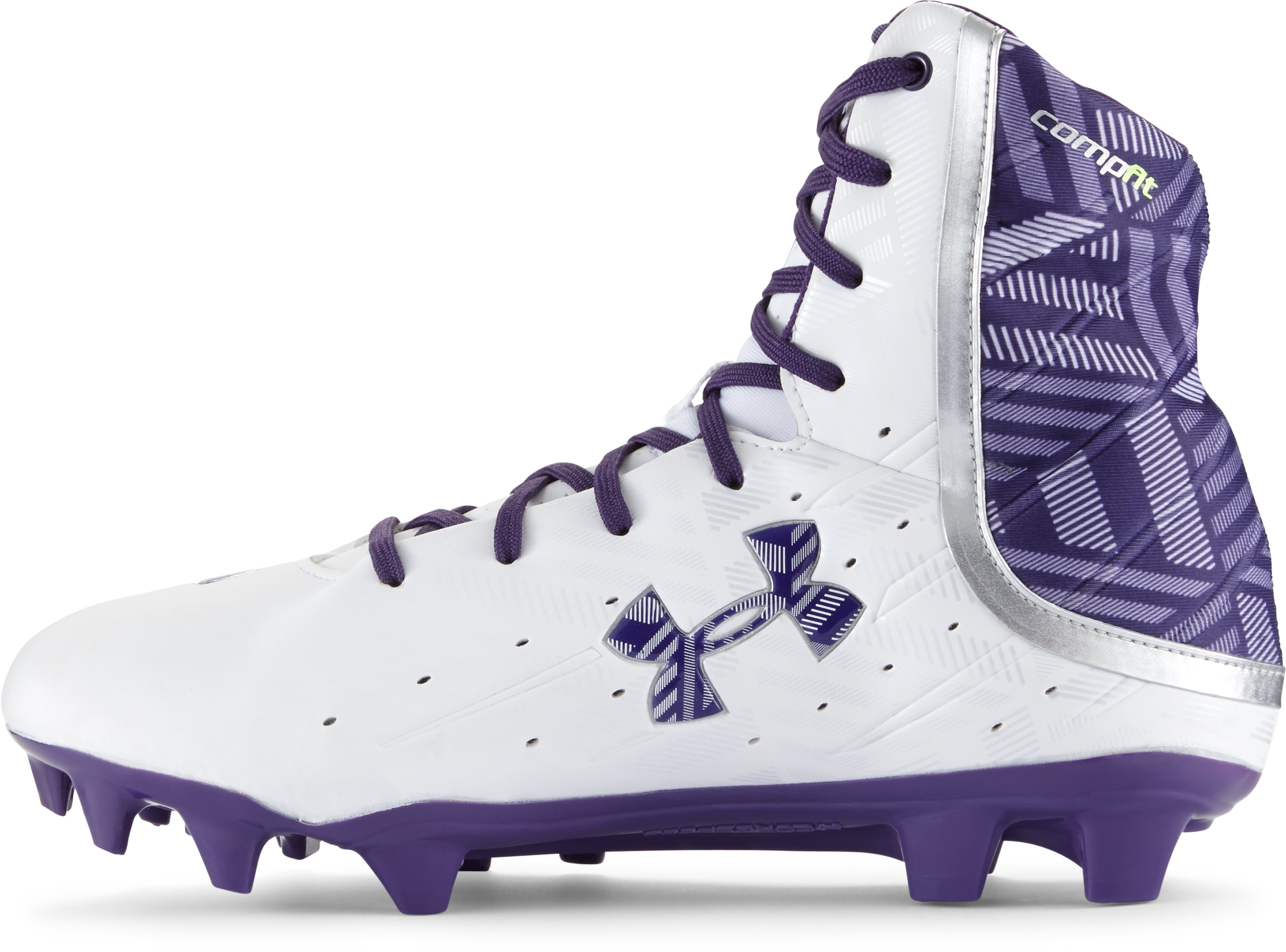 Women's UA Highlight II MC Lacrosse Cleats, White, undefined