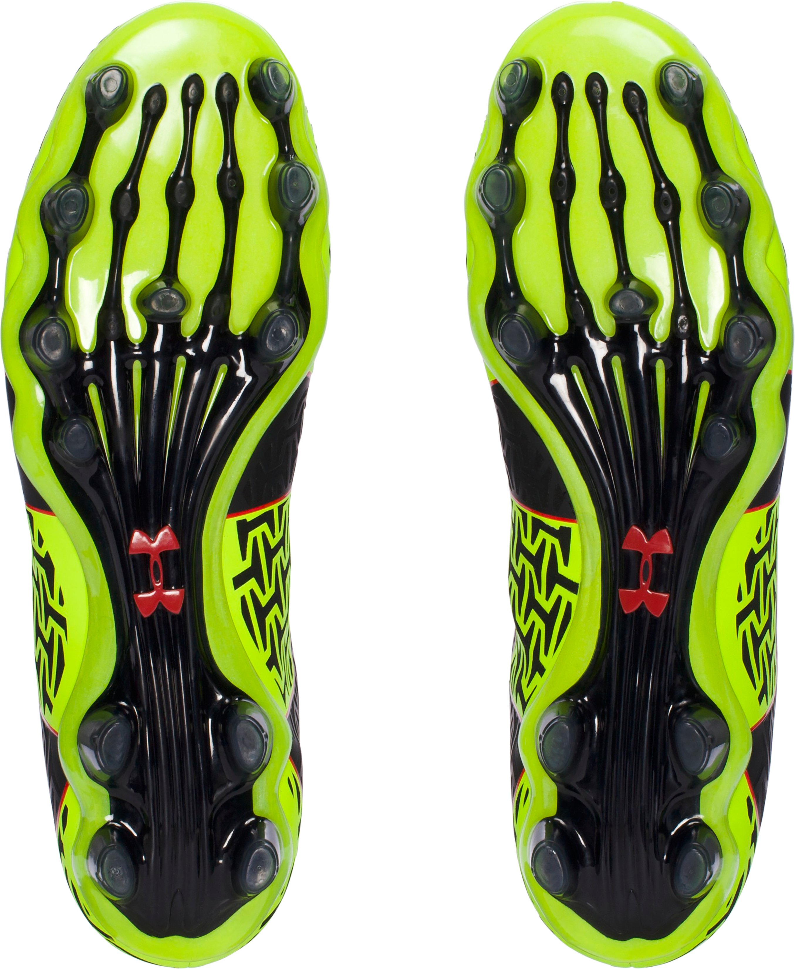 Men's UA ClutchFit® Force 2.0 FG Soccer Cleats, High-Vis Yellow, undefined