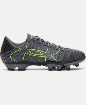 New Arrival  Boys' UA ClutchFit™ Force 2.0 FG Jr. Soccer Cleats  1 Color $54.99