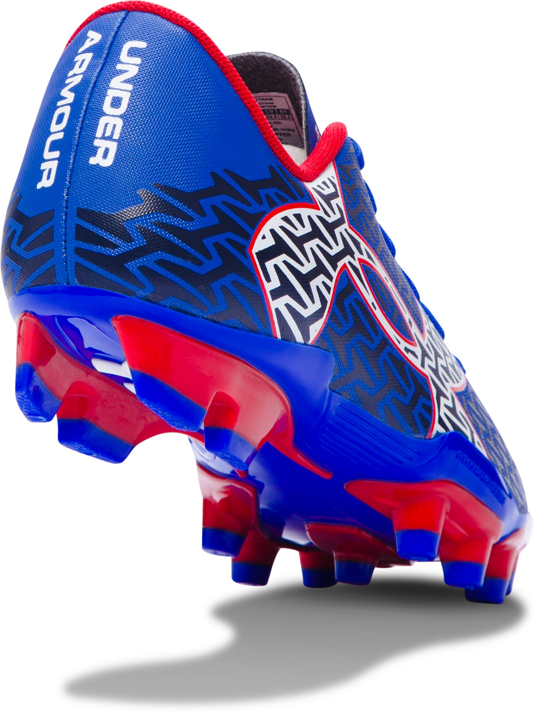 Boys' UA ClutchFit™ Force 2.0 FG Jr. Soccer Cleats, TEAM ROYAL