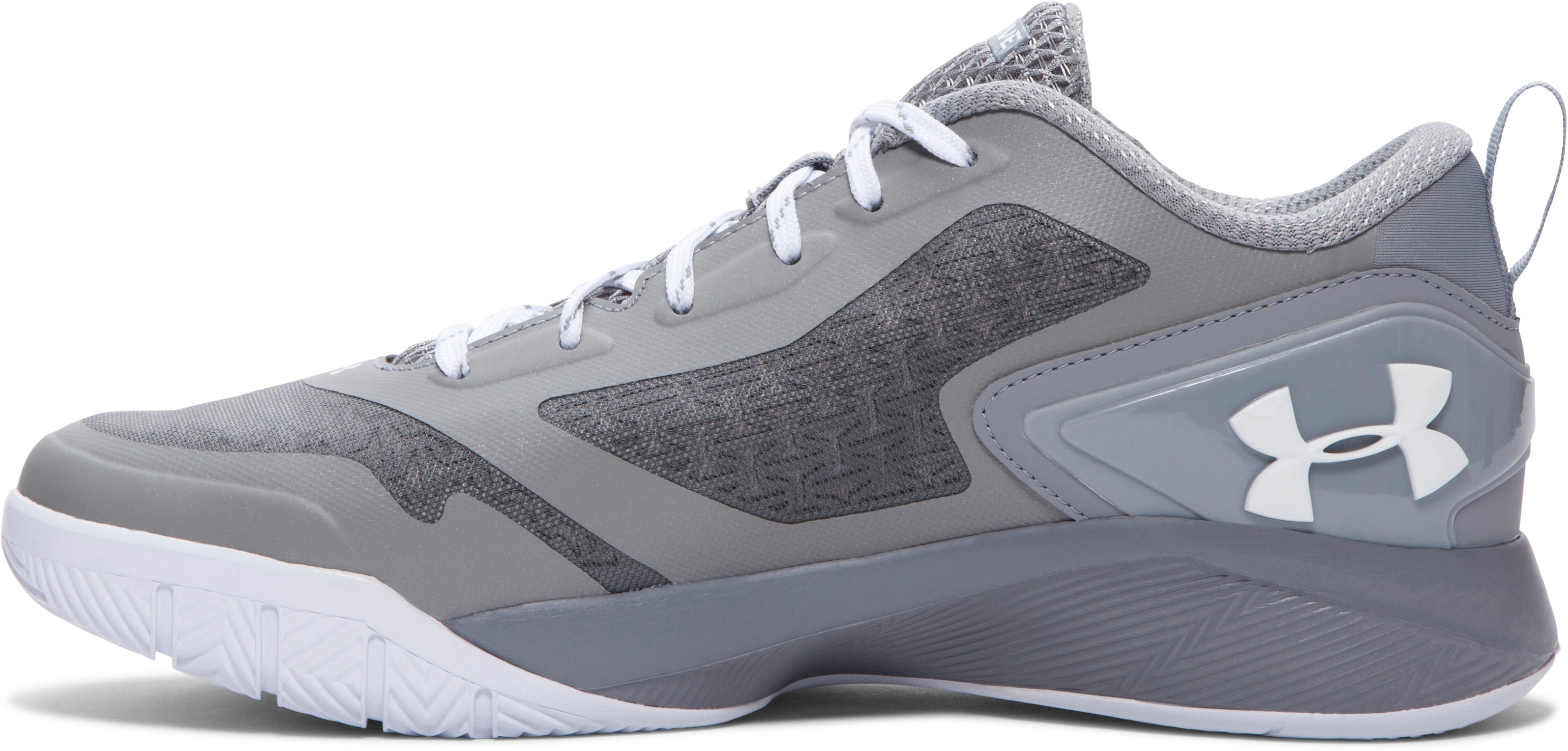 Men's UA ClutchFit™ Drive 2 Low Basketball Shoes, Steel, undefined