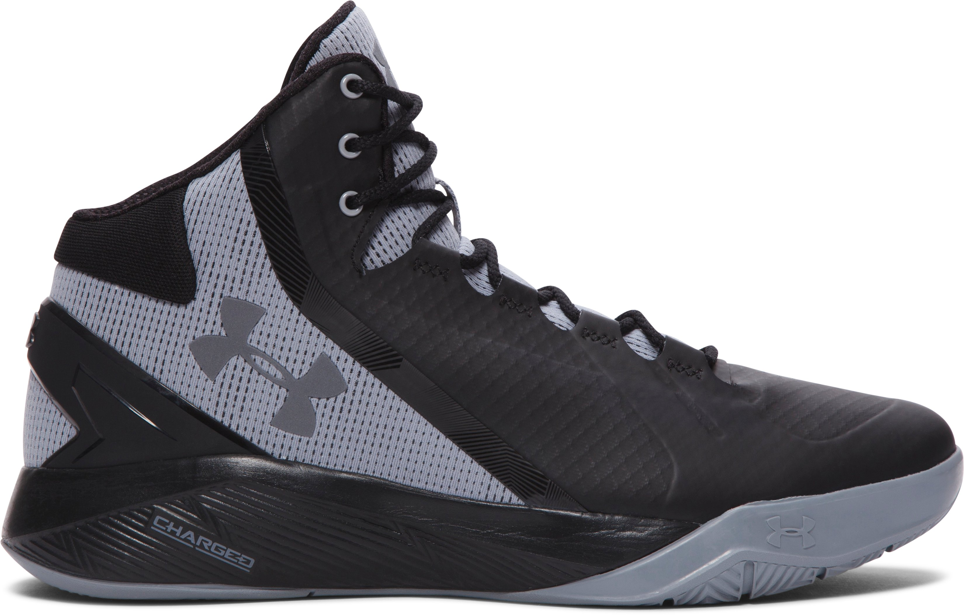 Men's UA Charged Step Back Basketball Shoes, Black , zoomed image