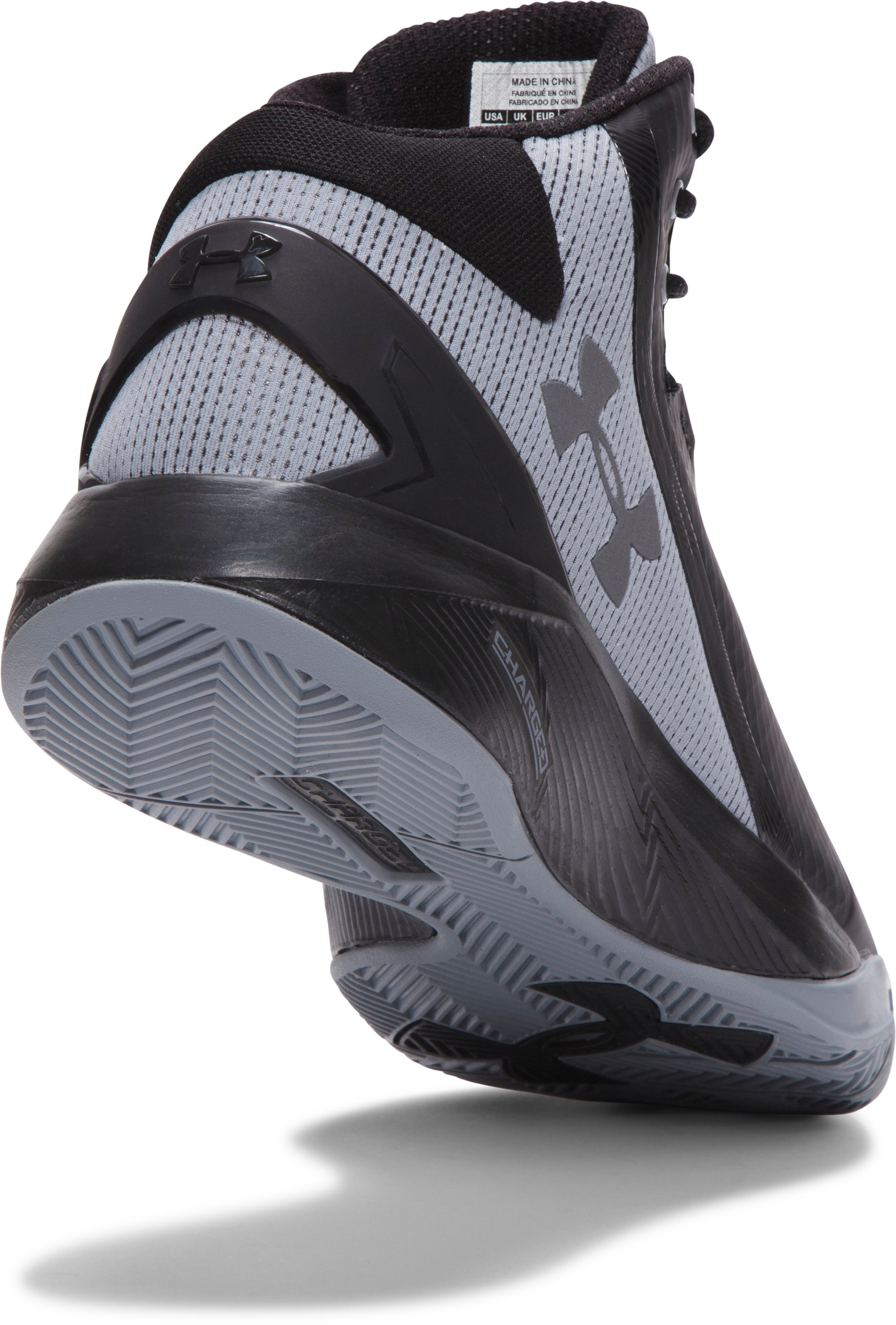 Men's UA Charged Step Back Basketball Shoes, Black