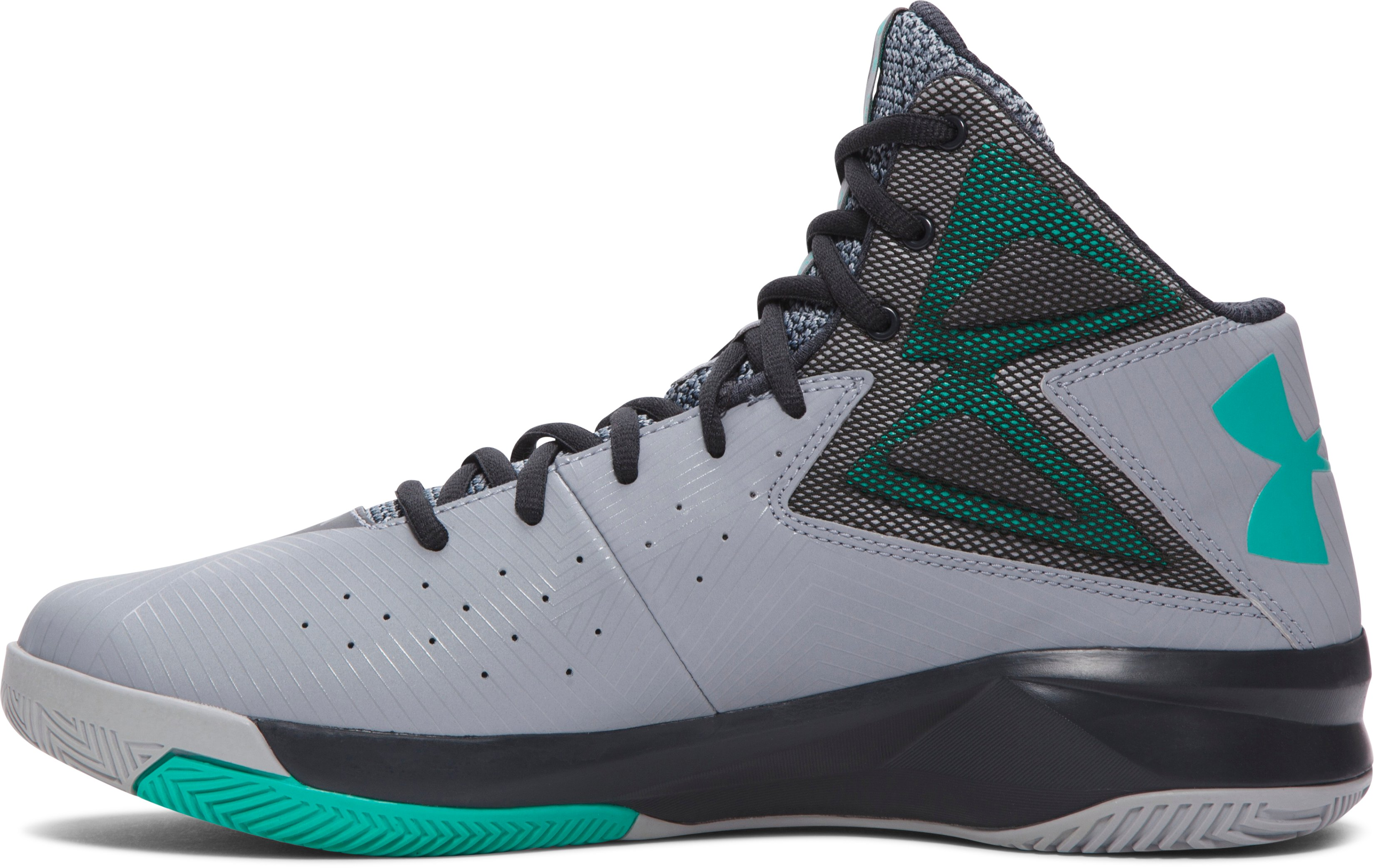 Men's UA Rocket Basketball Shoes, Steel, undefined