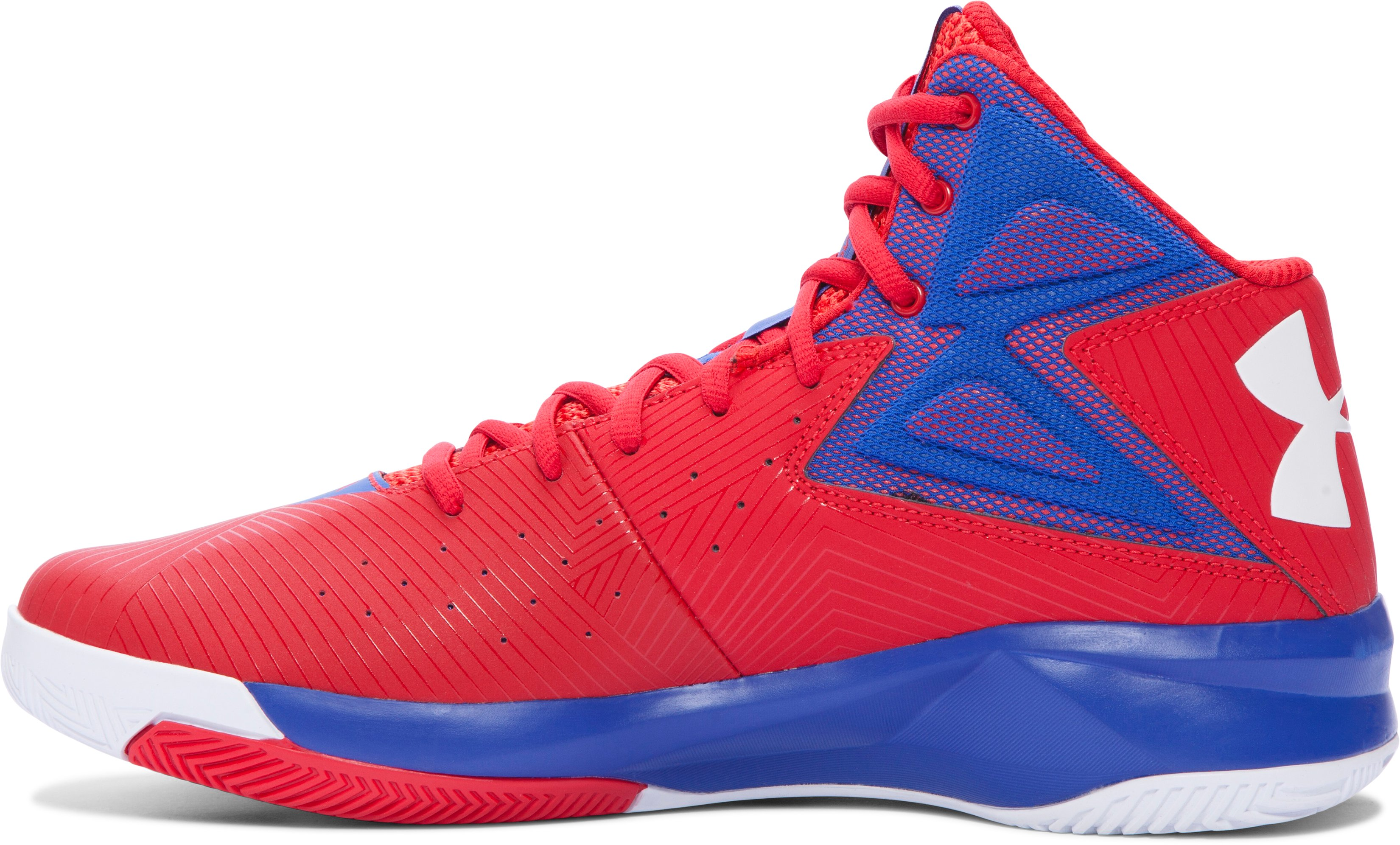 Men's UA Rocket Basketball Shoes, ROCKET RED, undefined