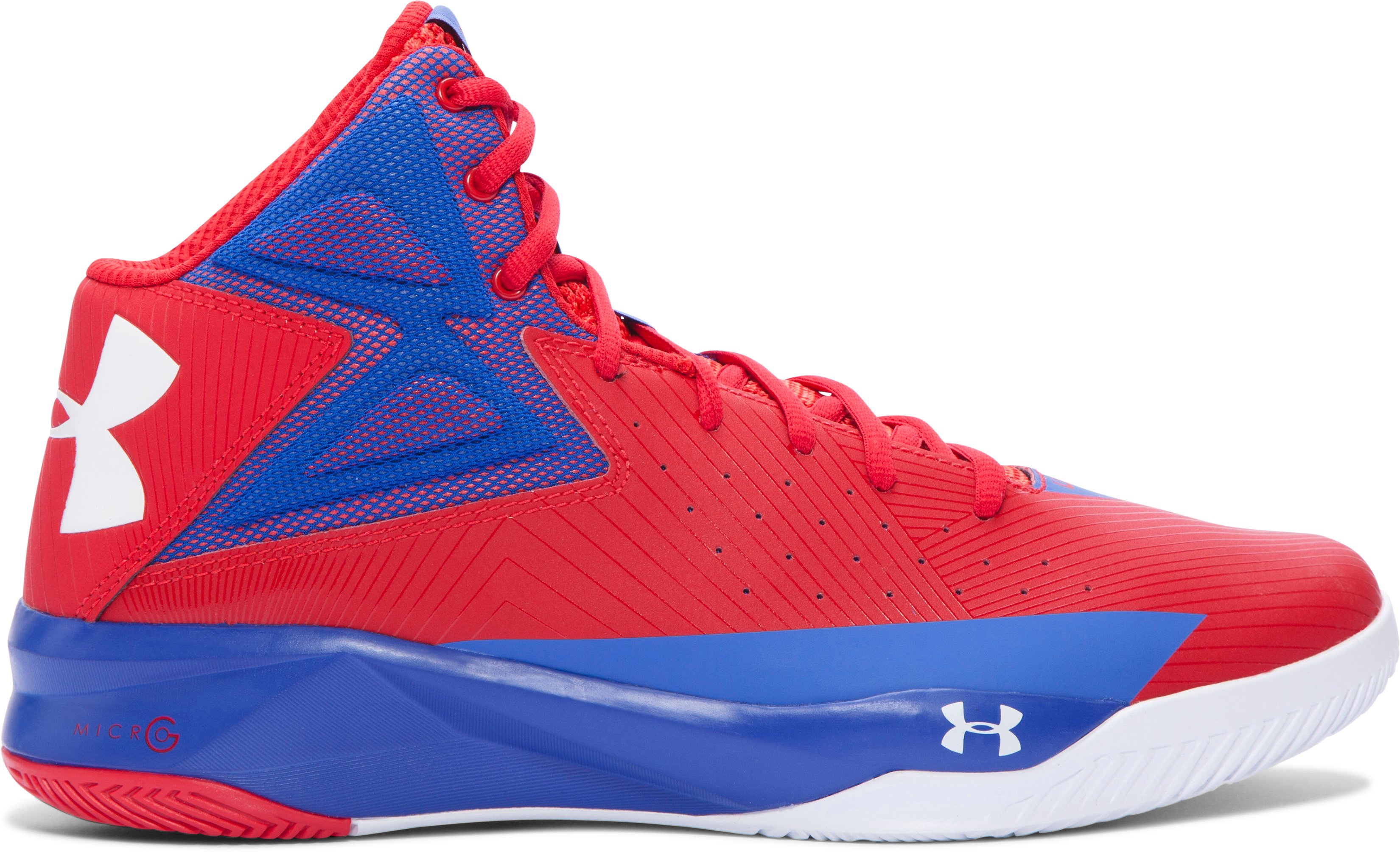 Men's UA Rocket Basketball Shoes, ROCKET RED