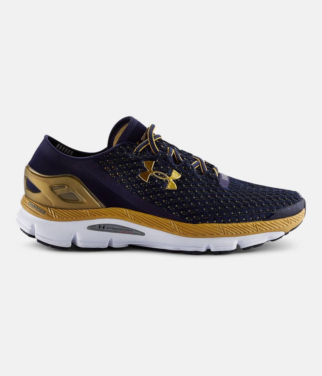 Under Armour Navy Blue And Orange Training Shoes