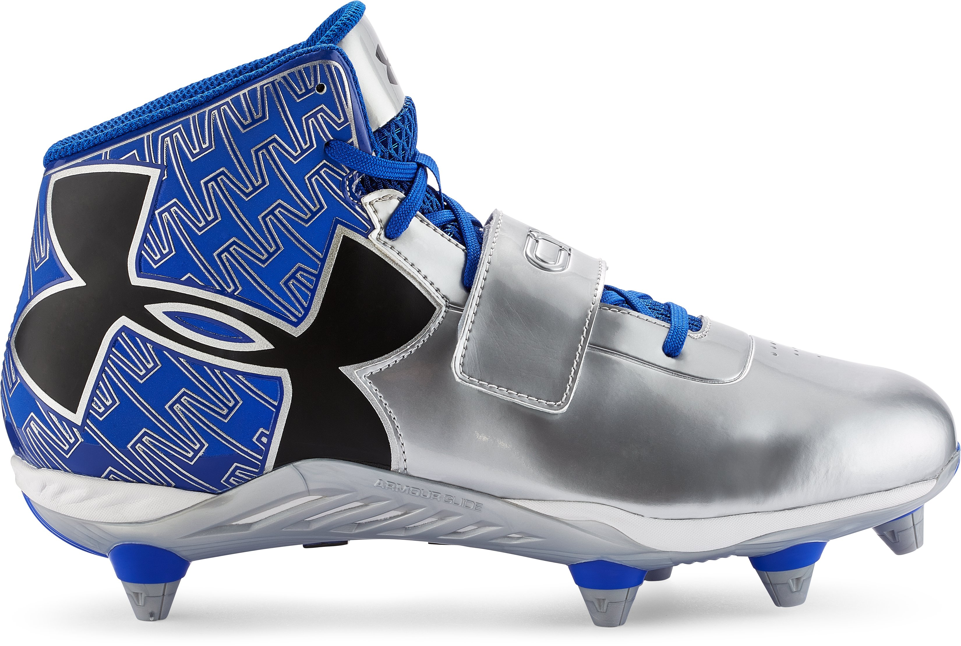 Men's UA C1N Mid Detachable Football Cleats, TEAM ROYAL