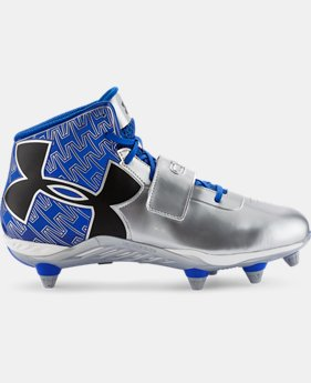 Men's UA C1N Mid D Football Cleats   $59.99