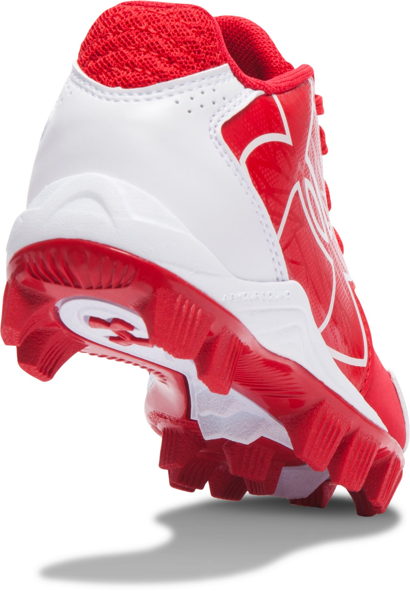 Kids' UA Clean Up Low RM Baseball Cleats, Red,