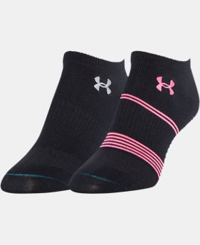 Women's UA Grippy III No-Show Socks 2-Pack