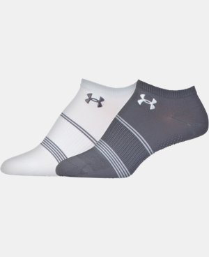 2-Pack Women's UA Grippy III No Show Socks 2-Pack  3 Colors $10.99 to $13.99