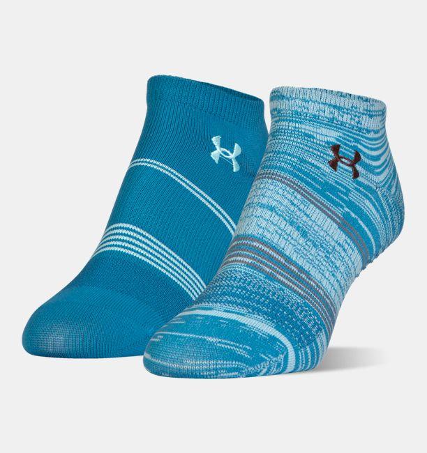 Under Armour UA Grippy III No Show Socks Women 2-Pack