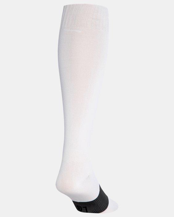 Kids' UA Soccer Over-The-Calf Socks, White, pdpMainDesktop image number 2