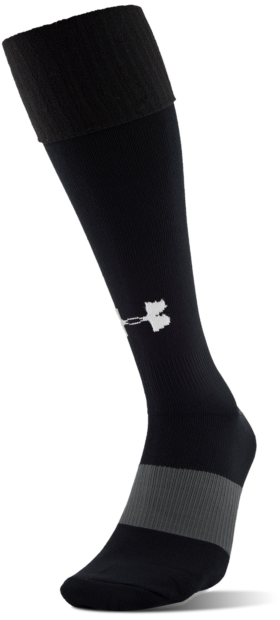 Men's UA Soccer Solid Over-The-Calf Socks, Black , zoomed image