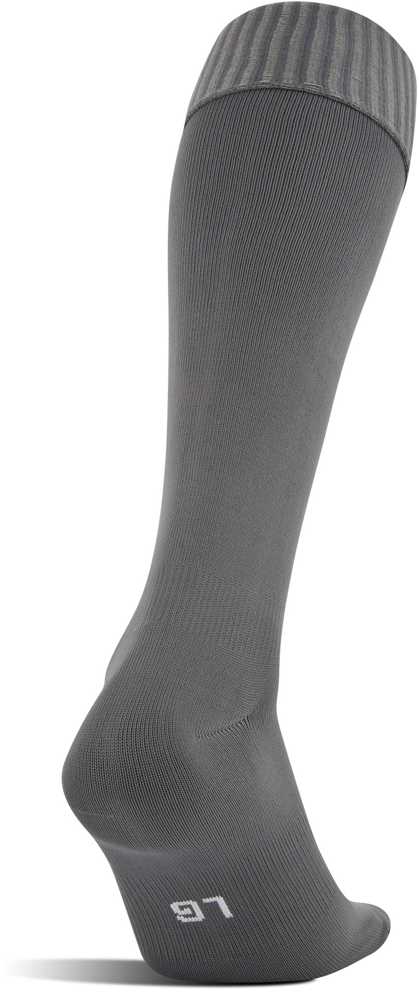 UA Soccer Solid Over-The-Calf Socks, Graphite,