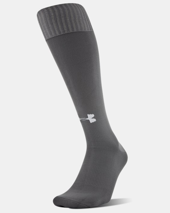 Chaussettes de foot UA Solid Over-The-Calf pour homme, Gray, pdpMainDesktop image number 0