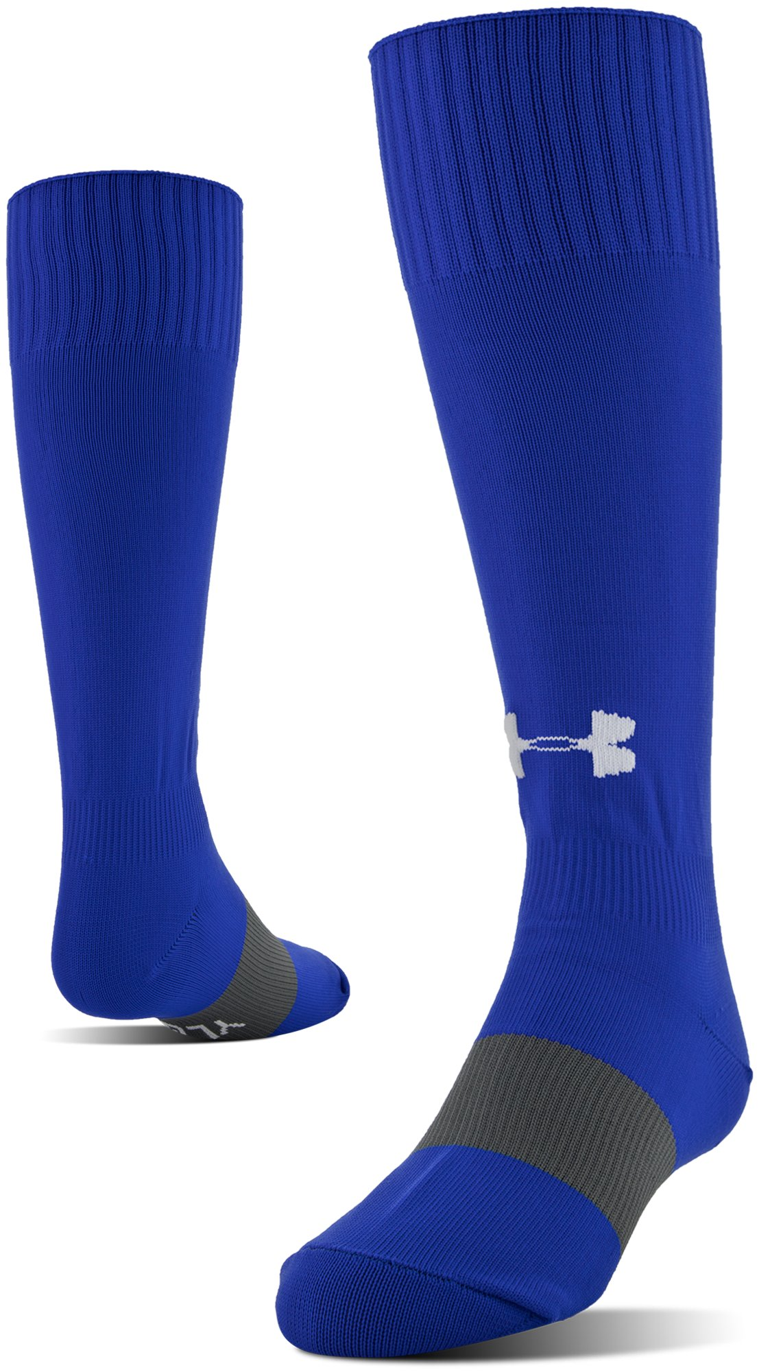 royal socks UA Soccer Solid Over-The-Calf Socks Comfortable, good quality....These socks fit GREAT for our 13 year old daughter....Great Fit