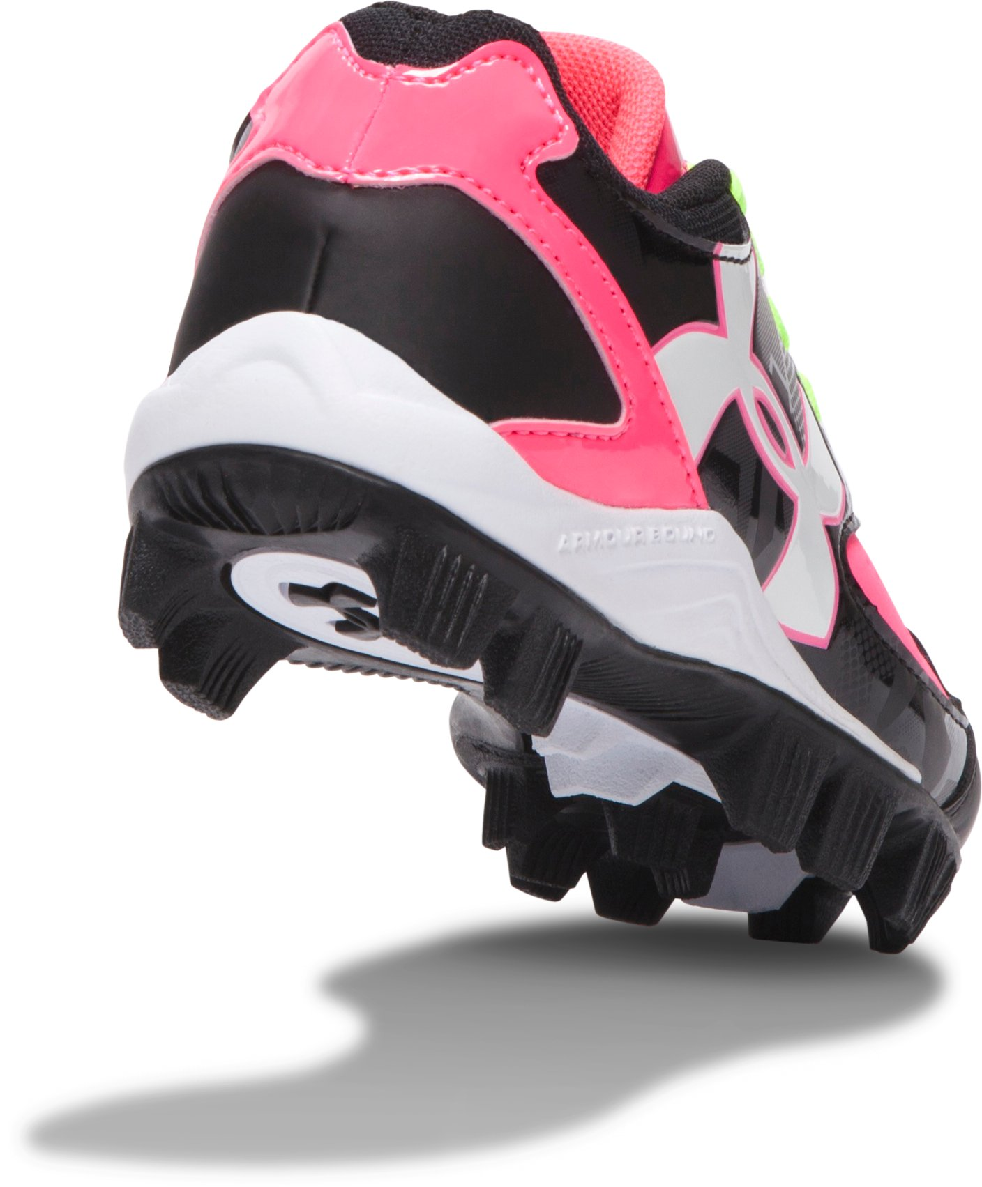 Girls' UA Glyde Softball Cleats, Black