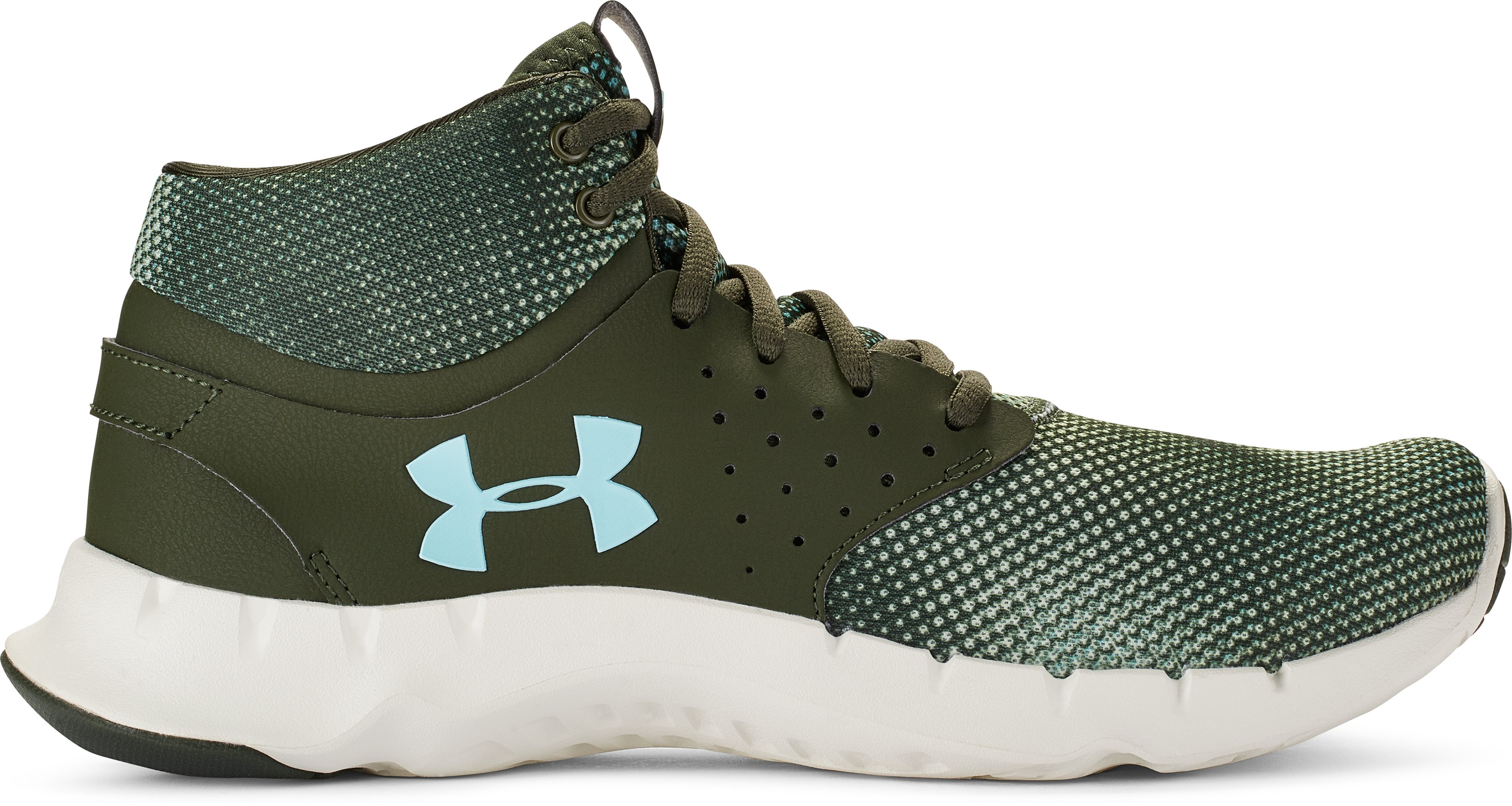 Women's UA Flow Mid Graphic Training Shoes, DOWNTOWN GREEN