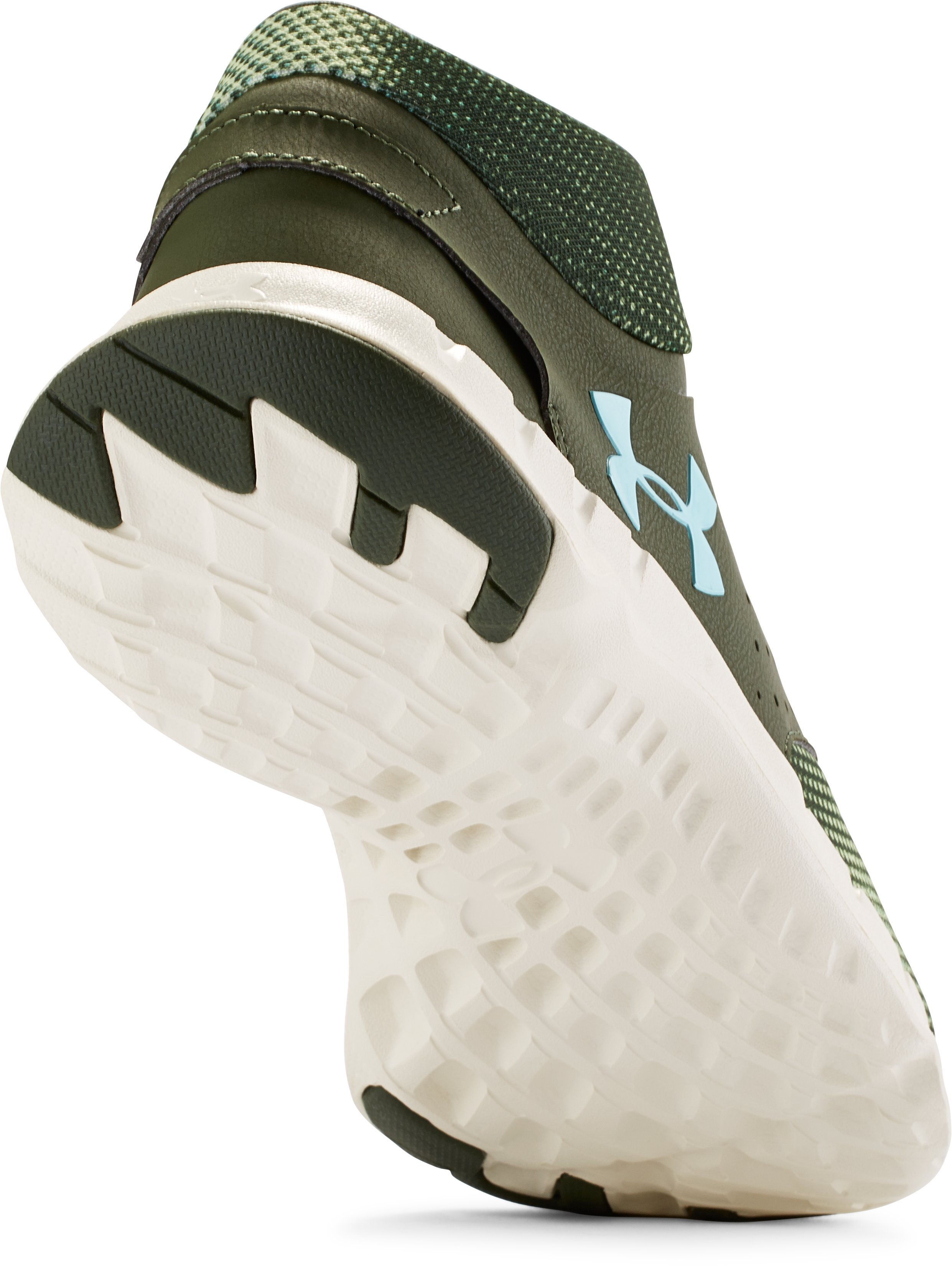 Women's UA Flow Mid Graphic Training Shoes, DOWNTOWN GREEN, undefined