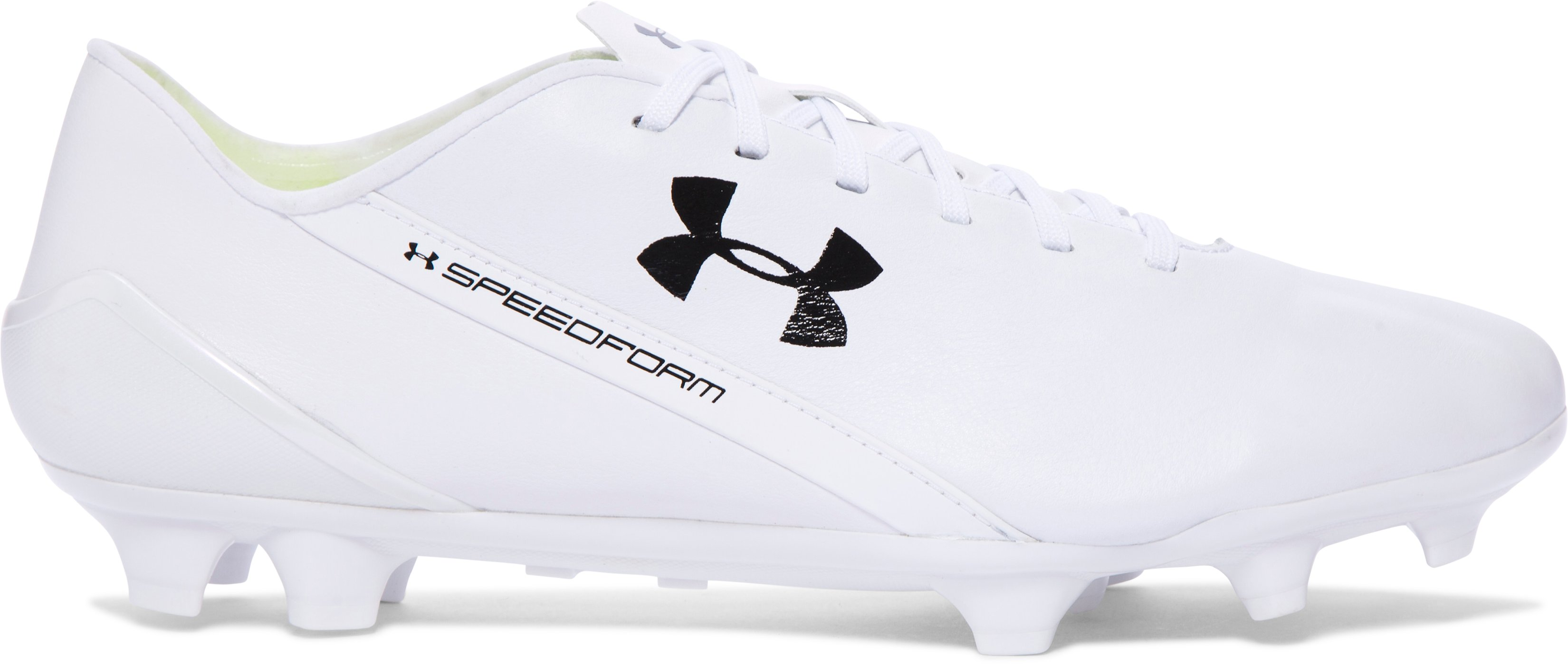 Men's UA SpeedForm® CRM LTHR Soccer Cleats, White,