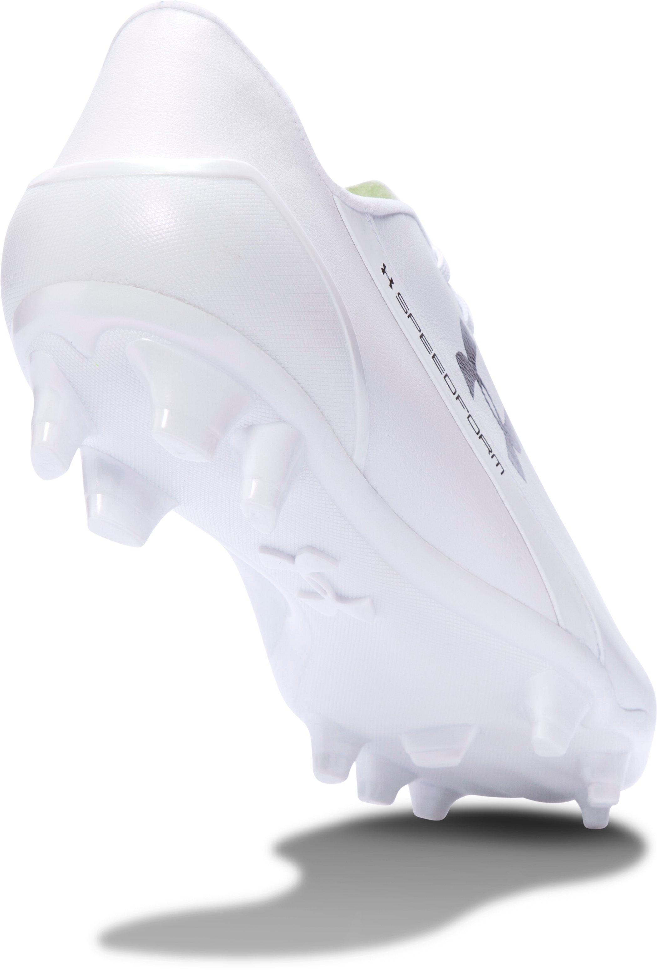 Men's UA SpeedForm® CRM LTHR Soccer Cleats, White, undefined