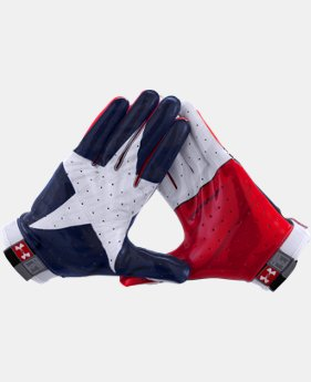Men's UA Swarm Texas Flag Football Gloves  1 Color $37.99